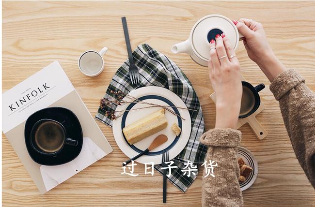 日本zakka小清新蓝色餐具