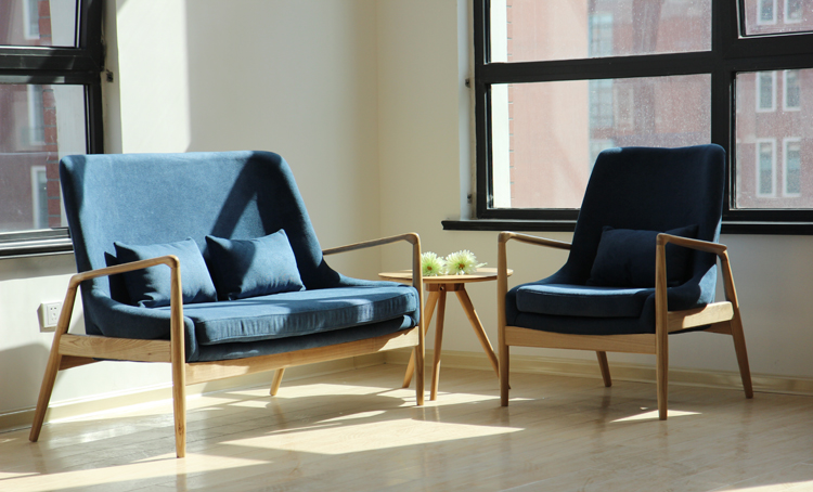 实木客厅简约沙发椅