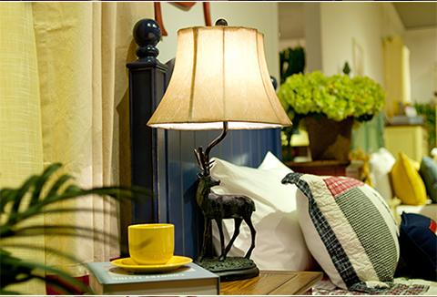 复古欧式麋鹿床头灯