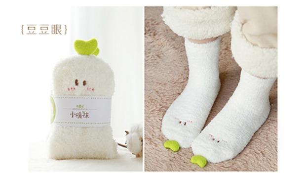 云朵工厂·绒绒可爱地毯袜