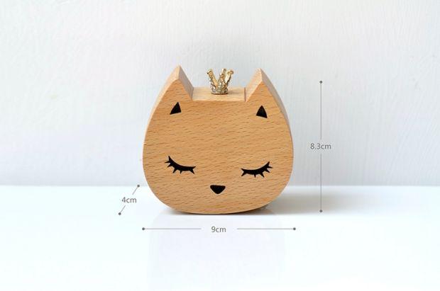 皇冠猫咪八音盒