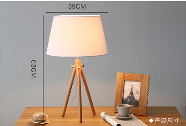 个性实木台灯