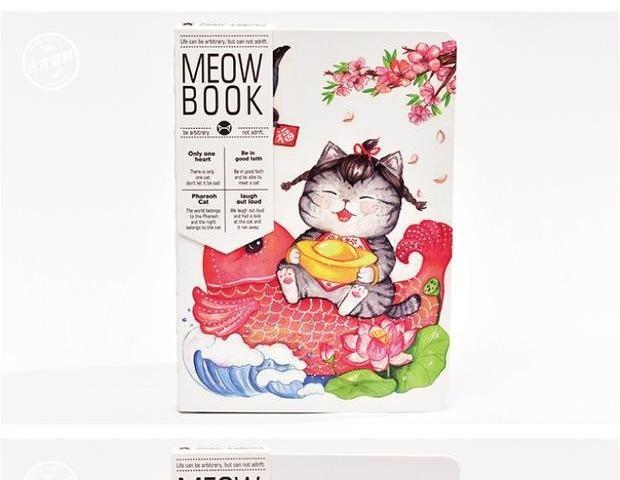 创意猫咪原创手绘笔记本