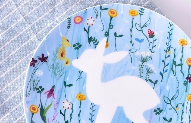 动物剪影平盘