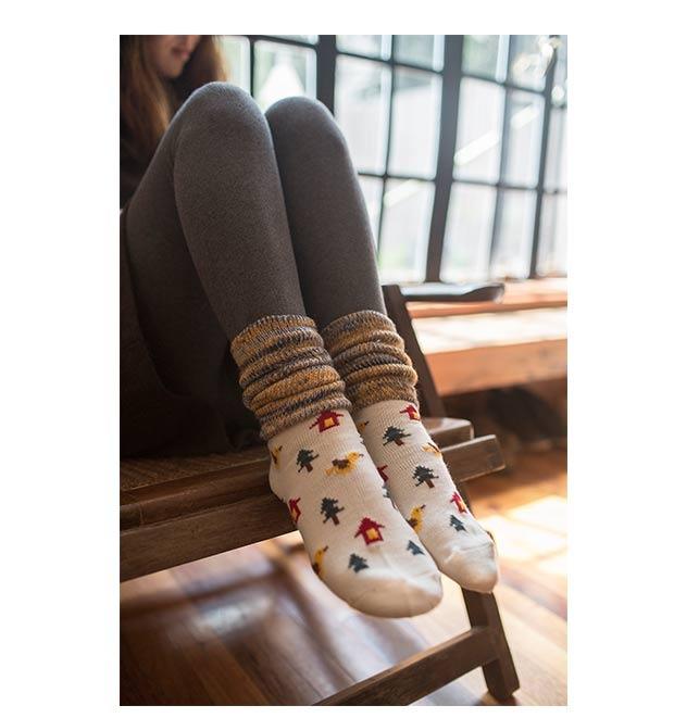 冬季拉绒堆堆袜