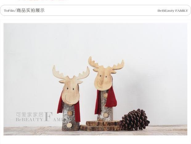 白色木桩创意鹿