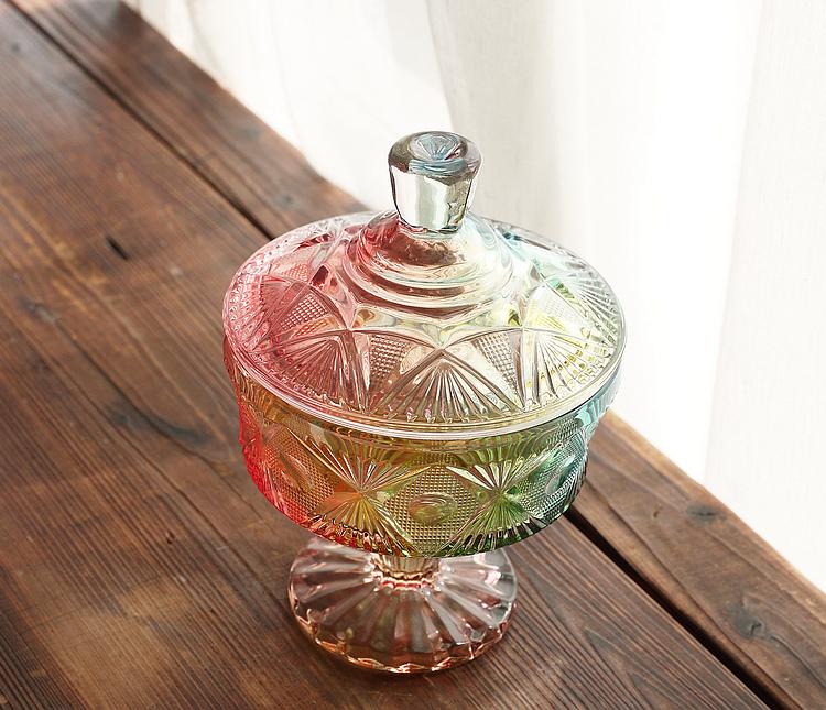 欧式彩色玻璃罐
